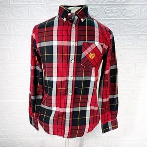 Boys chaps Button down flannel shirt